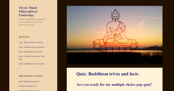 Mystic Minds, filosofie, algemene religie debatten en quizzen. Allemaal in het Engels.